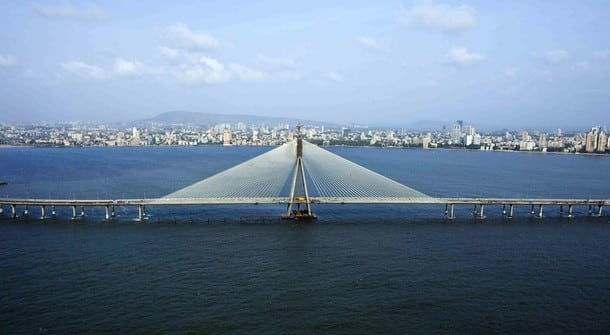 The newly built Bandra Worli Sea Link is seen in this undated handout made available June 30, 2009. Ten years and $325 million later, the ambitious sea bridge aimed at easing Mumbai's notorious traffic jams opened on Tuesday, holding out hope for harried commuters as well as investors betting on infrastructure. Only four of the bridge's eight lanes will initially be operational, underlining the many risks and pitfalls that pave such mega projects in India, where the race to build world class infrastructure has also been slowed by an economic meltdown. REUTERS/HCC/Handout (INDIA CITYSCAPE BUSINESS TRANSPORT) NO SALES. NO ARCHIVES. FOR EDITORIAL USE ONLY. NOT FOR SALE FOR MARKETING OR ADVERTISING CAMPAIGNS
